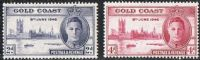 Gold Coast SG133-134 1946 Victory p13½x14 set 2v complete mounted mint